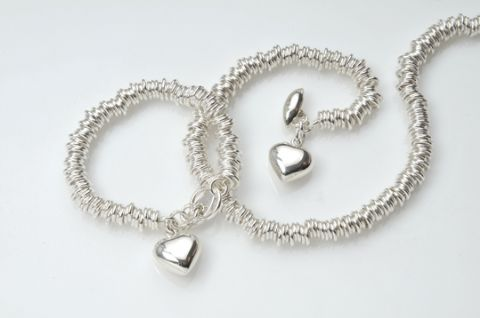Large Sterling Sweetie Bracelet